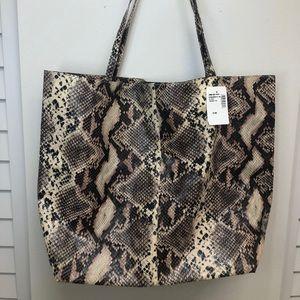 🧡Faux Snakeskin Tote Bag Saks Fifth Avenue